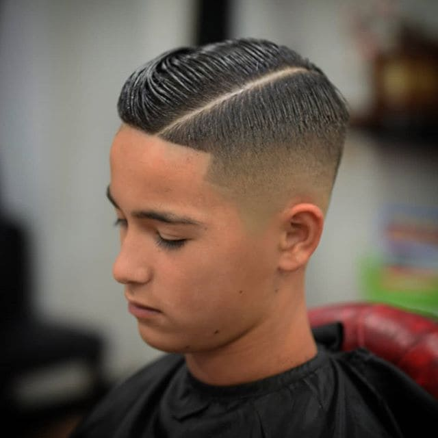 Boy's Haircut, haircut, Men's Hair, Hardpart, Fade, Lineup, Com Over, Skinfade, Brooke, Tapered