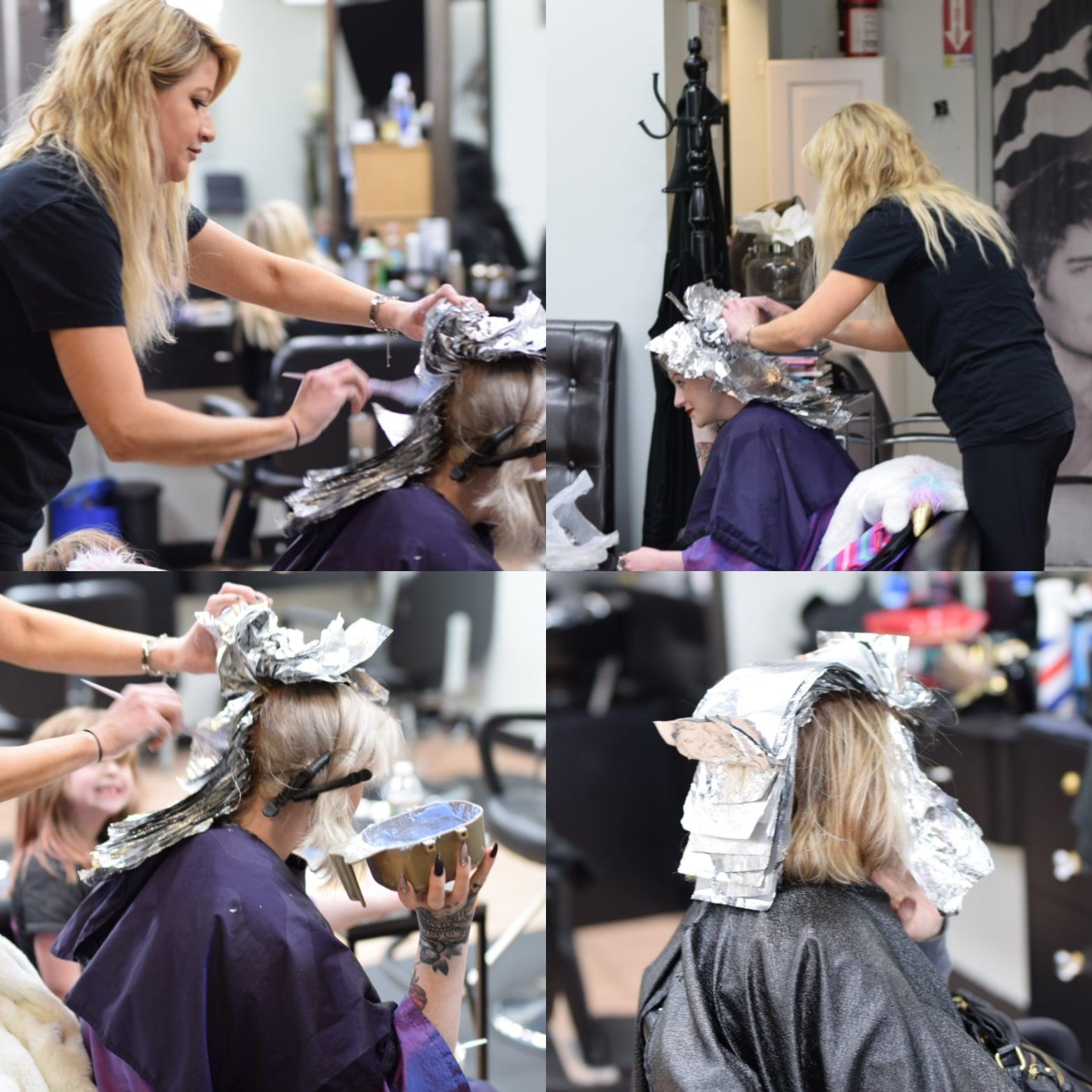 Phily's Cuts, Brick NJ, Hair color, bleach, going blonder, Beauty salon, foils, blonde specialist, Christina