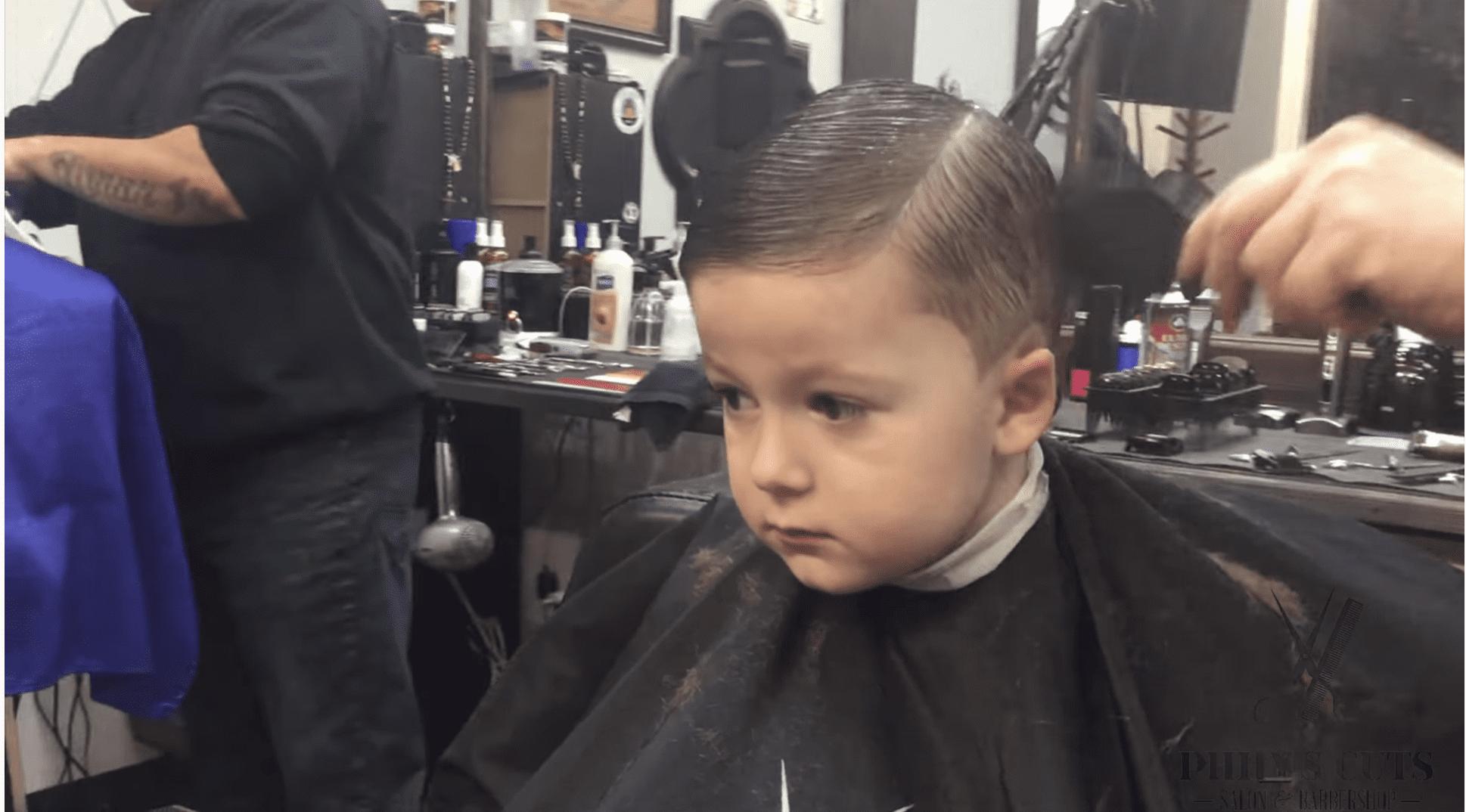 Phily's Cuts, Brick NJ, Children's haircut, hair, haircut, boy, part, combover
