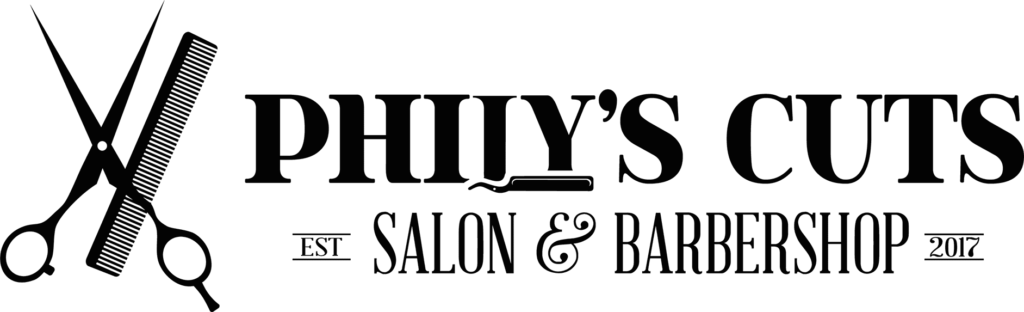 Phily's Cuts, Brick NJ, Logo, Phily's Cuts Logo, Scissors, Shears, Comb, Salon and Barber Shop, Stylist, Barber